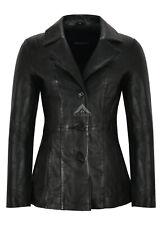 Ladies Real Leather Blazer Black Lambskin Classic Fashion Casual Top Jacket 5147