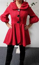 Dashing, High-End Lagenlook Red Jacket coat in M, L,1XL,2XL, 3XL