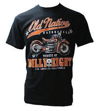Antiguo Native-Billy Eight-Para Hombres Camiseta-Negro-Biker, Rock-a-Billy Usa