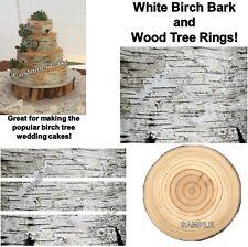 Birch Bark Wood Tree Rings Edible Cake Topper Birch Cake Strips Ring Toppers