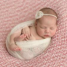 Newborn Baby Stretch Knit Wrap Photo Photography Prop Mum Scarf Baby Blanket LC