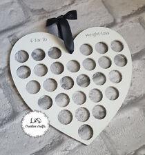 Weight Loss Chart stone Tracker - Slimming World Watchers £1 pound coin-Heart