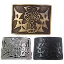 TE Scottish Kilt Belt Buckle Thistle Knot Various Finish Celtic Buckles Antique