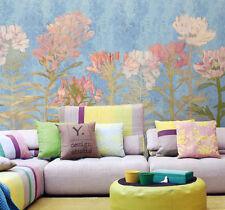 3D Blue Flower 1D WallPaper Murals Wall Print Decal Wall Deco AJ WALLPAPER