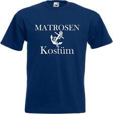 Matrosen Kostüm T Shirt Karnevalkostüm Faschingkostüm Seemann Herren Kapitän