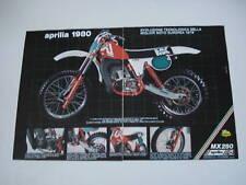 advertising Pubblicità 1980 MOTO APRILIA MX 250