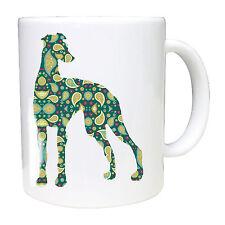 Whippet mug, Hound Dog, Paisley, Greyhound Whippet Lurcher Sighthound gift mugs