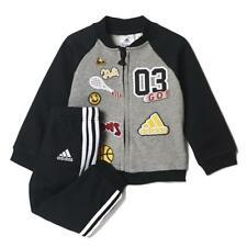 Abbigliamento sportivo bimbo tuta ADIDAS CE9729 grigio melange-nero