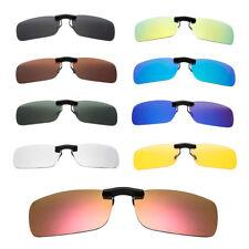 Unisex Rectangle Sunglasses Myopia Vision Glasses Clip-On Polarizing UV400 Part