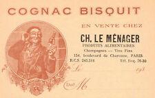 LETTERHEAD BILLHEAD FRENCH 1930s COGNAC BISQUIT