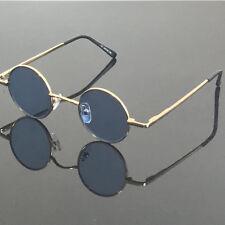 Vintage small Round 37mm Gold Reading Sunglasses Retro Glasses +100 +125 +150 +3