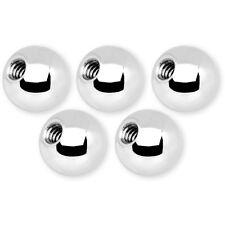 5 Sfere Palline Acciaio Ricambio Piercing 14G & 16G