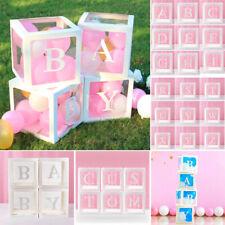 Buchstabe Würfel Transparent Geschenk Box Kind Geburtstag Baby Dusche Party Deko