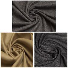 Quality 100% Cashmere Wool Herringbone Blend Fabric Plain Dress Upholstery