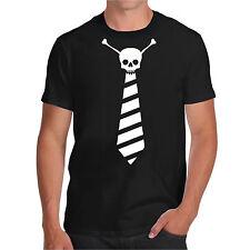 T shirt CRAVATTA CON TESCHIO maglietta HAPPINES ironic t-shirt divertente funny