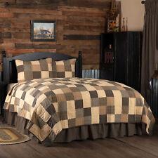 VHC Primitive Quilt Set Kettle Grove Bedding Black Cotton Patchwork