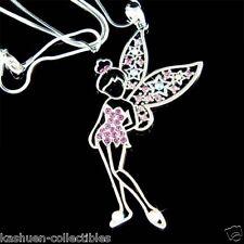 Purple w Swarovski Crystal Fairy TINKERBELL Star Tinker Charm Angel Necklace NEW