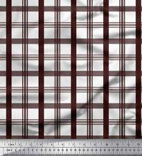 Soimoi Fabric Window Pane Check Fabric Prints By Meter-CH-41A