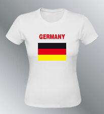 Tee shirt ALLEMAGNE euro monde femme football drapeau deutschland germany flag