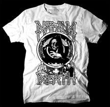 NAPALM DEATH Live Corruption  WHITE T SHIRT cotton all sizes S-5XL