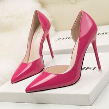 Stiletto Scarpe decolte sandali eleganti lucido  simil pelle 11 rosa 1189