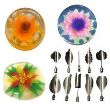 10PC 3D Gelatin Jello Jelly Art Pudding Flower Cake Decoration Mold Needle Tools