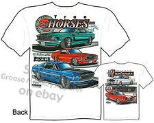 64 65 66 Ford Mustang Clothes 67 68 69 70 GT350 GT500 Shirts, Sz M L XL 2XL 3XL