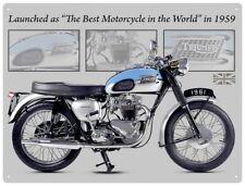 88236 Triumph Bonneville Motorcycle Wall Art Sign Decor WALL PRINT POSTER AU