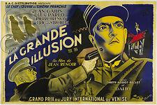 REPRO DECO AFFICHE LA GRANDE ILLUSION GABIN 1937  SUR PAPIER190 OU 310 GRS