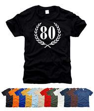 80. Geburtstag Jubiläum - T-Shirt, Gr. S bis XXL