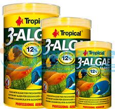 3-ALGAE FLAKES  12 g SACHETS 20g100ml 50g/100ml 200g/1L TUBE TROPICAL