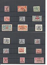 Danzig, Gdansk 1923, Einzelmarken aus Michelnummern: 147 - 192 o, gestempelt o