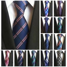 Men's Striped Check Classic Silk Tie Jacquard Woven Wedding Formal Party Necktie