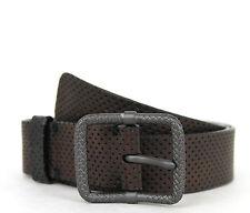 NEW Authentic BOTTEGA VENETA Leather Perforated Belt Bronze Unisex 288184