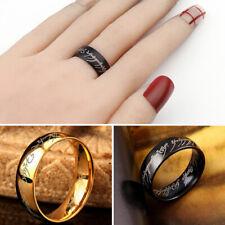 Männer Unisex Ring Schmuck Ring Edelstahl Hochzeit Titan Gold Ring Schwarz
