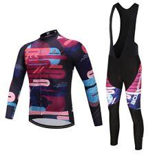 Men's Cycling Long Sleeve Jersey and (Bib) Pants Set Padded Cycle Clothing Kit