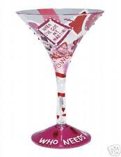 Lolita Valentine WHO NEEDS A MAN Martini Glass  - RETIRED & Rare Gift NEW