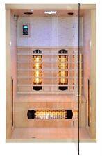 Sauna infrarossi 120x110 150x110 2 posti radio lettoremp3 cromoterapia legno|htd