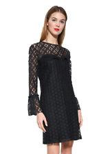 Desigual Black Long Sleeved Lace Isabel Dress 34-46 UK 6-18 RRP �139