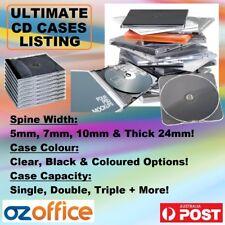 CD Cases CD Jewel Cases Single Double Triple Quad Six Black Clear Slimline Case