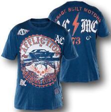 Affliction CANNONBALL A7977 Men's Short Sleeve T-shirt Tee Blue