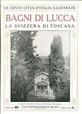 BAGNI DI LUCCA-CENTO CITTA' D'ITALIA ILLUSTRATE-ANNI 20