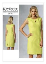 V1432 Vogue Sewing Pattern Designer Kay Unger Misses' Business Lined Dress