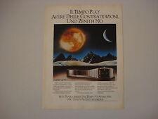 advertising Pubblicità 1979 OROLOGIO ZENITH PORT ROYAL QUARTZ