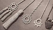 Five Vintage Crochet Shade Light Fan Pulls Pattern 5