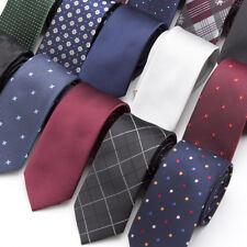 Men Neck Tie Skinny Necktie Wedding Ties Polyester Black Dot Bowtie Cravats