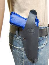 New Barsony Black Leather Belt OWB Holster for Astra Beretta Full Size 9mm 40 45