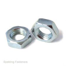 "BSF 3/8"" High Tensile Zinc Plated Steel Hexagon Locking Half Nuts"