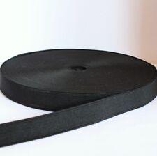 Elastique Plat Couture 25mm Noir  :  Vendu x 2 Mètres x 4 Mètres ou x 10 Mètres