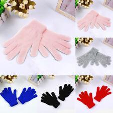 Multi-couleurs Gants Chauds d'hiver à cinq doigts en Tricot pour Hommes Femmes